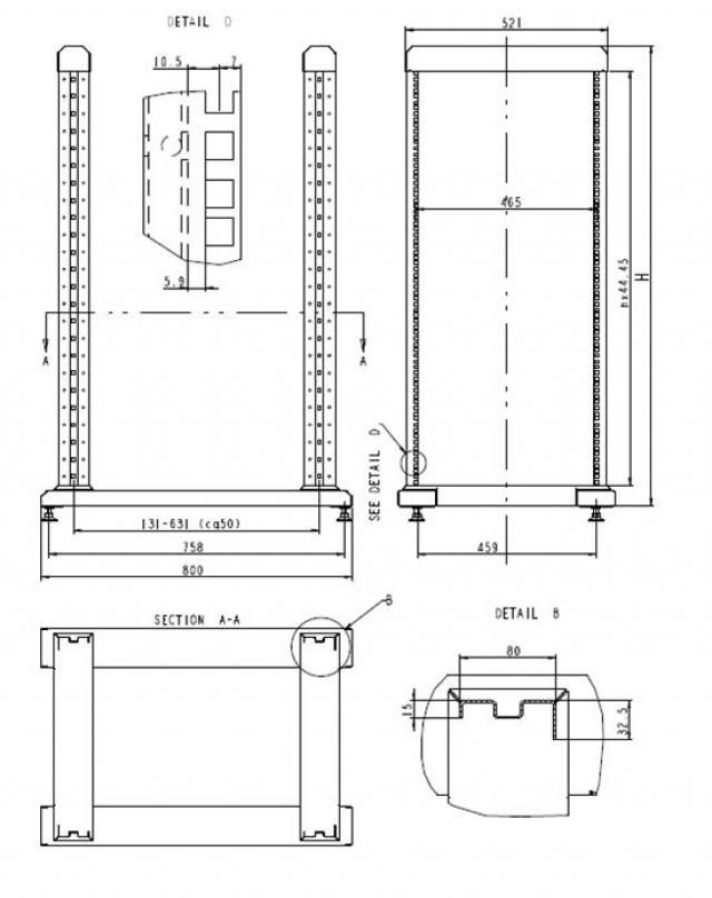 Модернизированная 19 стойка ZPAS серии SRXs