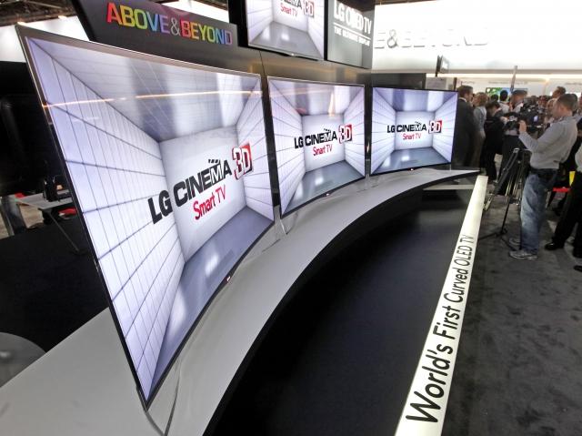 Первый OLED-телевизор LG с изогнутым экраном