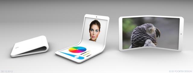 iFlex flexPhone – дизайнерский концепт гибкого телефона