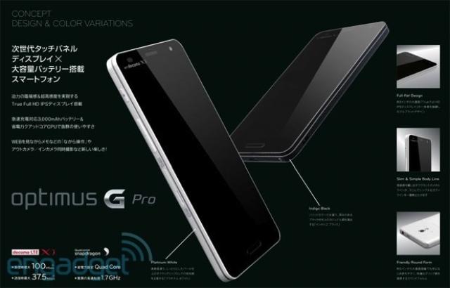 В LG подтвердили скорый выход 5,5-дюймового Optimus G Pro