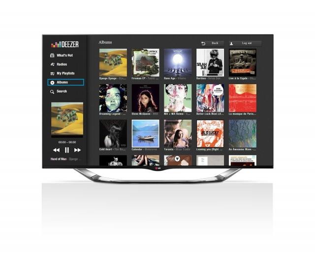 Потоковая музыка Deezer на LG Smart TV