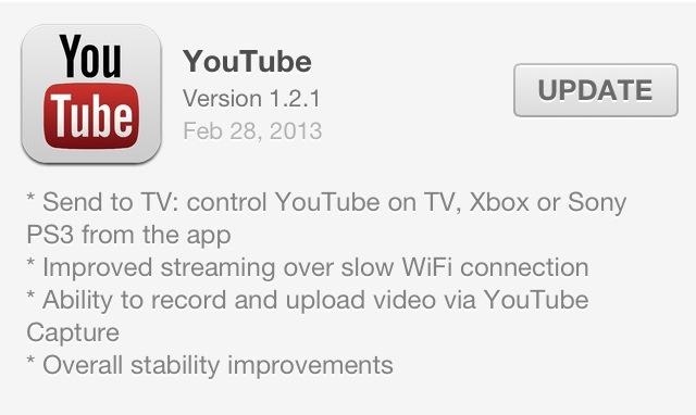 Функция Send to TV от YouTube теперь доступна и в iOS