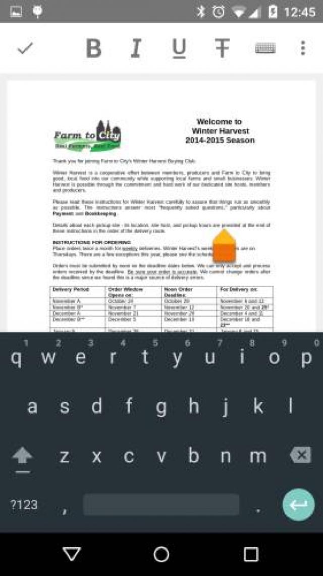 Пробная версия LibreOffice для Android имеет функции редактирования документов