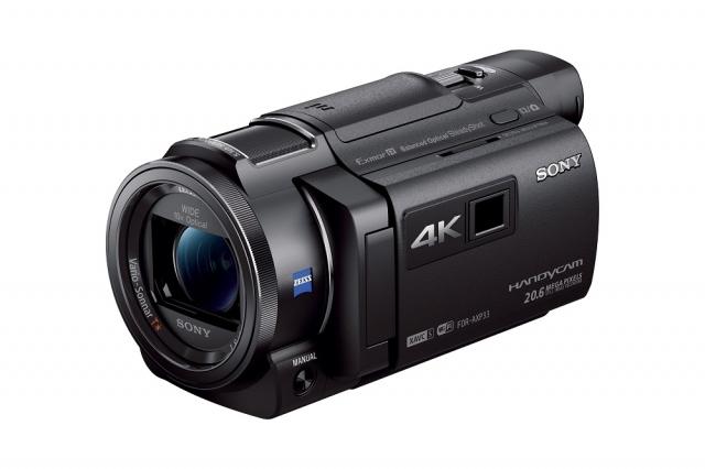 Новые 4К-видеокамеры Handycam FDR-AX33  от Sony
