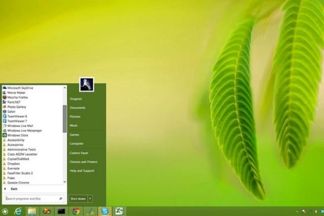 """Кнопку """"Пуск"""" для Windows 8 скачали более 8 млн человек"""