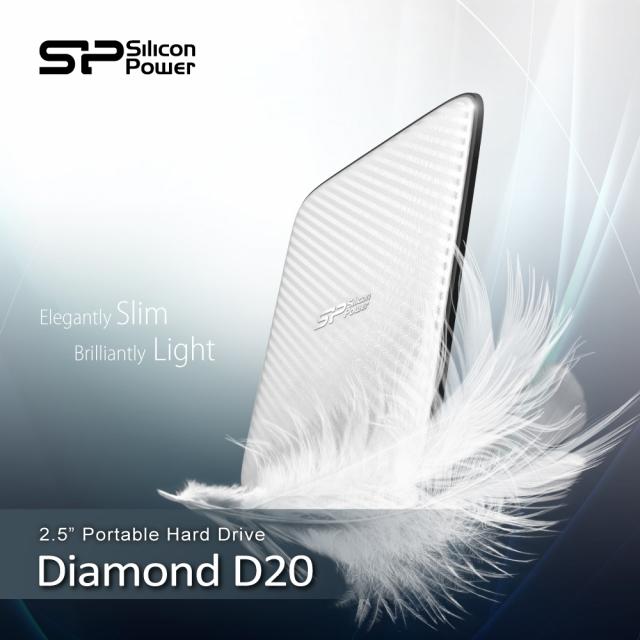 Новый ультратонкий портативный жесткий диск Silicon Power Diamond D20