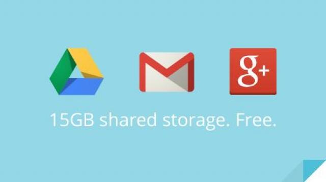 Google увеличивает объём бесплатного дискового пространства в три раза – до 15 Гб