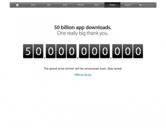Apple объявила победителя 50-миллиардной загрузки