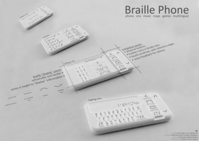 Первый смартфон для слепых и слабовидящих