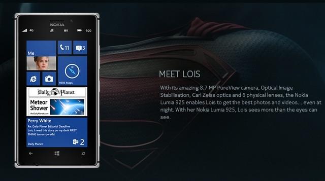 Nokia будет сотрудничать с создателями фильма «Человек из стали»