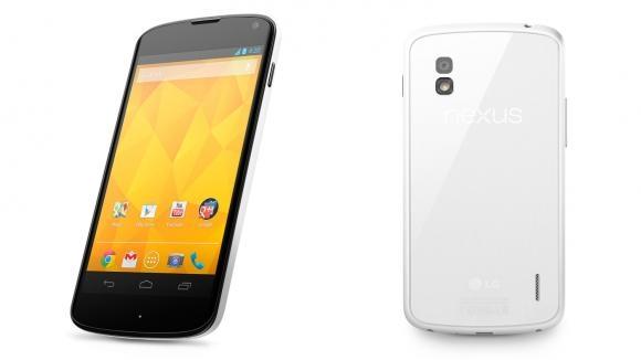 Google Nexus 4 – официально белый!