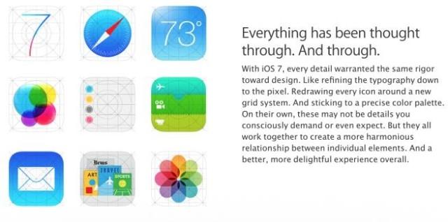 Новые «иконки» в iOS 7