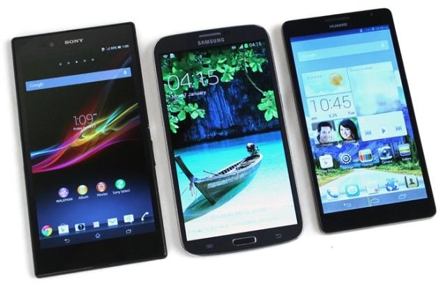 Битва Голиафов: Sony Xperia Z Ultra, Galaxy Mega 6.3 и Ascend Mate