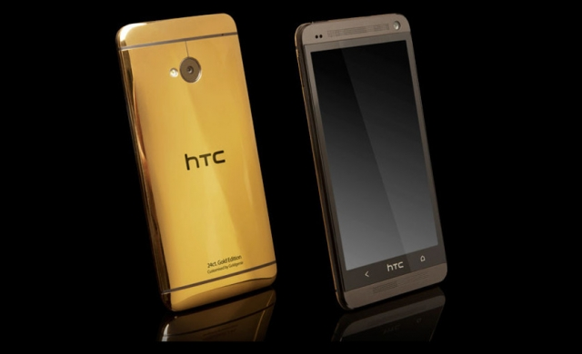 HTC One – флагманский смартфон в золоте и платине!