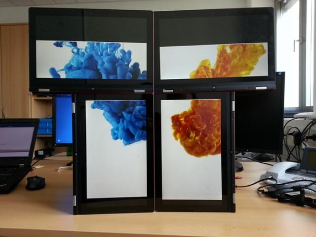 Новая беспроводная технология Intel позволяет создавать мозаику из экранов