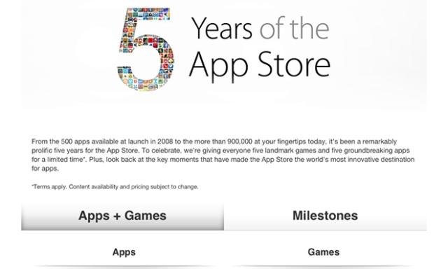 App Store раздает подарки в честь 5-летнего юбилея. Самые популярные приложения – бесплатно!