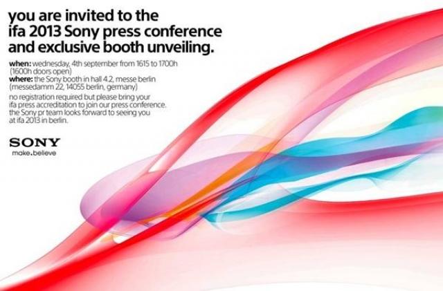 Sony приглашает всех на выставку IFA 2013