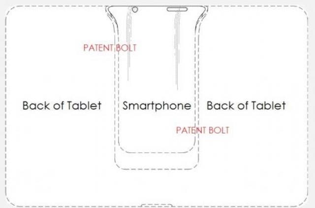 Samsung получила патент на смартфон-аккумулятор для планшета
