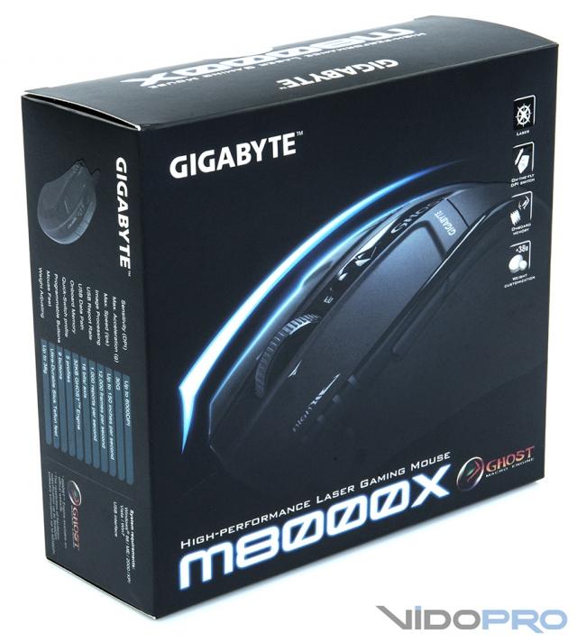 GIGABYTE M8000X GHOST – лазерная мышь для продвинутых геймеров