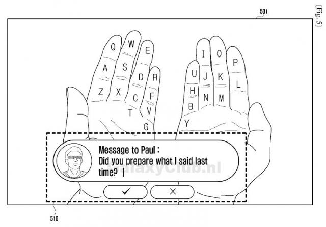 Конкурент Google Glass от Samsung превратит ладони в клавиатуру