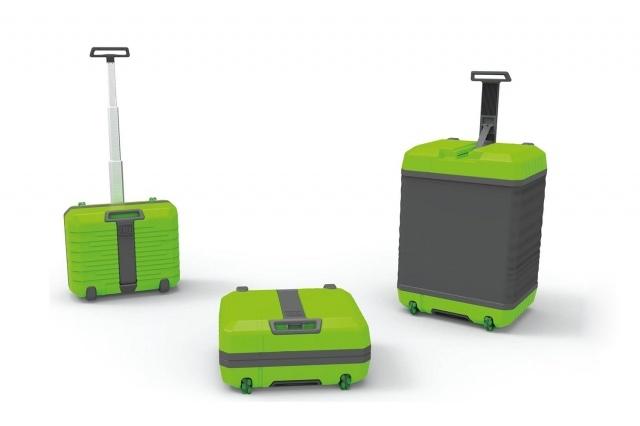 Умный чемодан Fugu быстро меняет размер и эффективно защищает вещи во время транспортировки