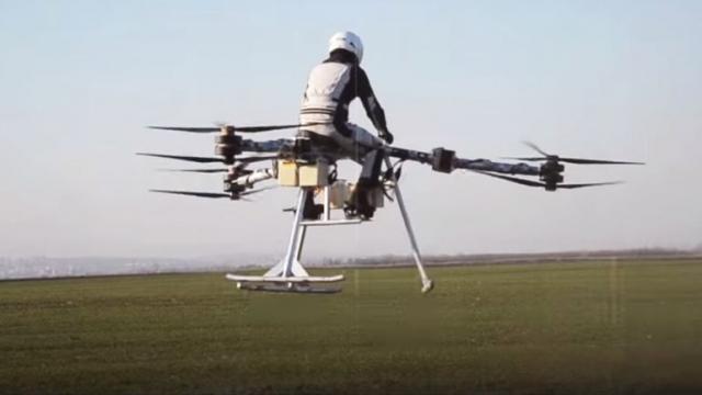 Квадрокоптер для полета человека