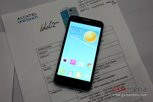 MWC 2014: Alcatel представила One Touch Idol 2 Mini