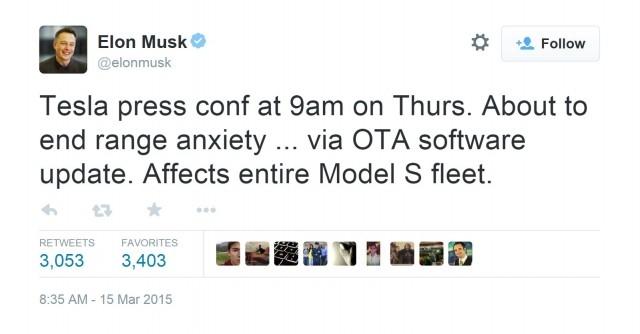 Tesla собирается решить проблему запаса хода с помощью программного обеспечения