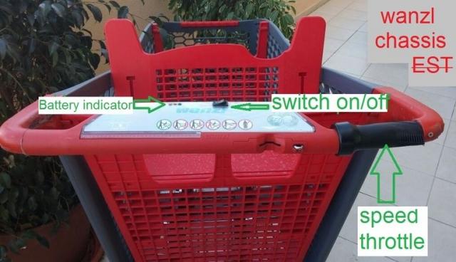 Электрическая тележка для покупок