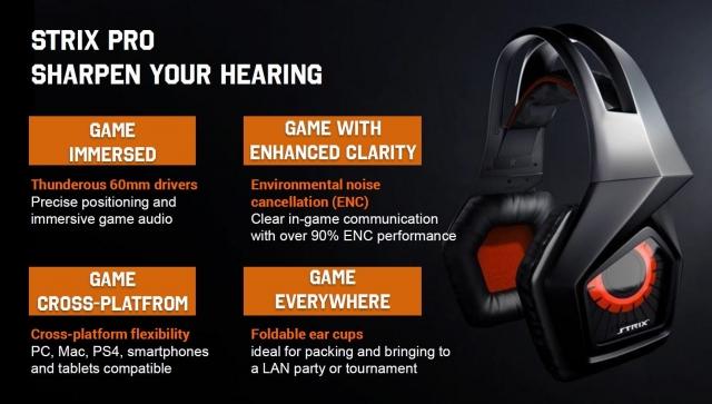 ASUS анонсировала выход игровой гарнитуры Strix Pro
