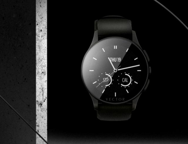 Умные часы Vector с квадратным или круглым корпусом и 30 дневным зарядом