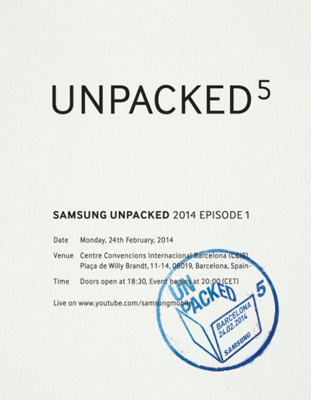 Samsung выслала приглашения на презентацию Galaxy S5