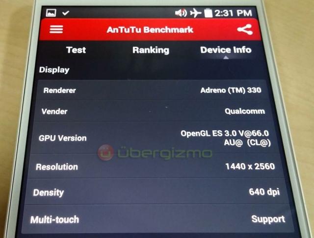 Первое фото LG G3 подтверждает наличие QHD-дисплея (2560 х 1440)