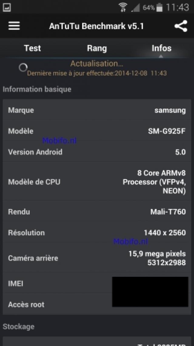 Известны новые подробности о характеристиках флагмана Samsung Galaxy S6