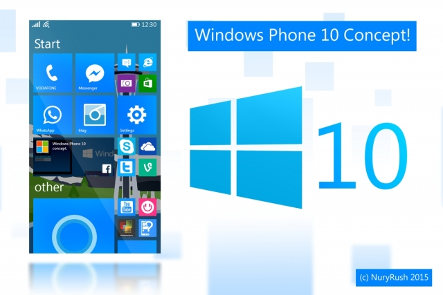 Рендер Windows Phone 10 показал, какой могла бы быть ОС для смартфонов