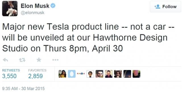 Генеральный директор Tesla заявил о новом продукте, который будет не автомобилем