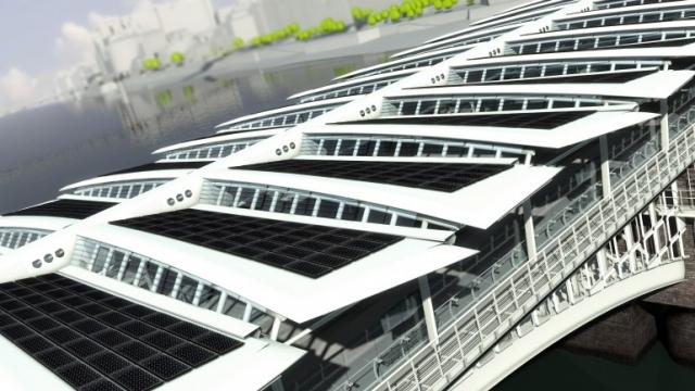 В Лондоне построили самый большой солнечный мост в мире