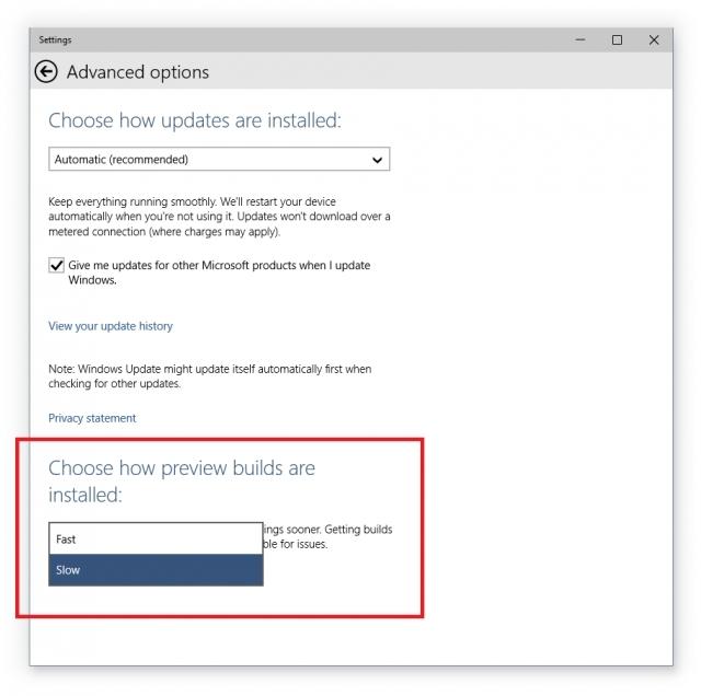 Microsoft запускает обновление для тестовой версии Windows 10
