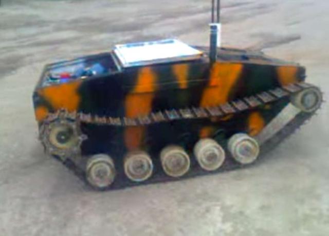 Украинская волонтерская кампания по сбору средств на маленький робо-танк