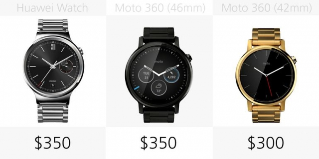 Сравнение Huawei Watch и Moto 360 2