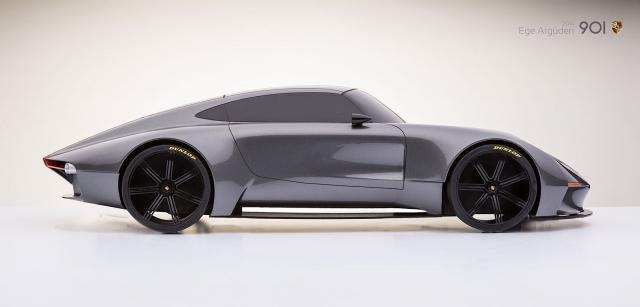 Невероятный концепт-кар Porsche 901 от которого невозможно оторвать взгляд