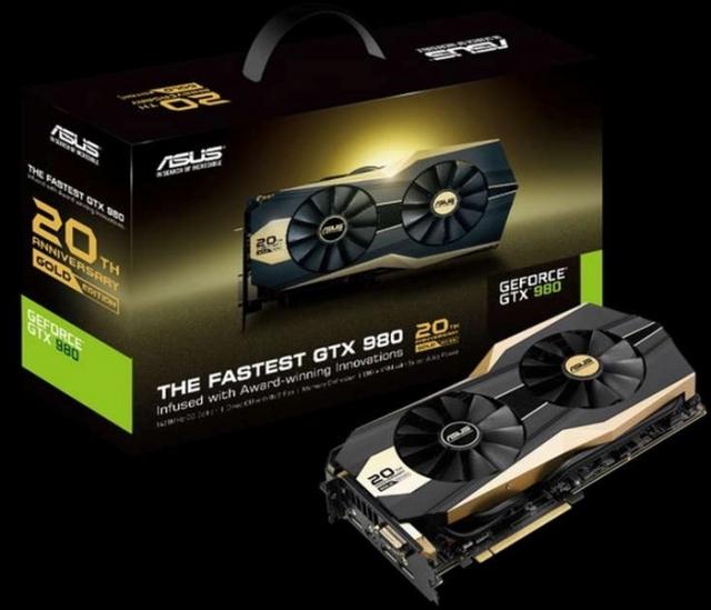 Золотое издание видеокарты Asus GeForce GTX 980