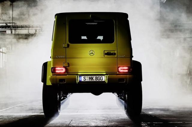Новый полноприводный Mercedes G 500 4×4 появится на Женевском автосалоне