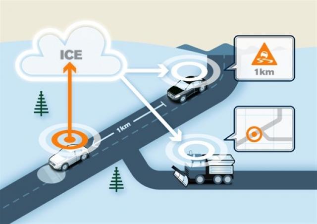 Volvo разработала технологию, которая сделает вождение в непогоду более безопасным
