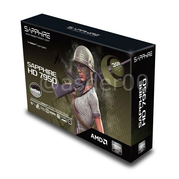Спецификации видеокарт AMD Radeon HD 7950