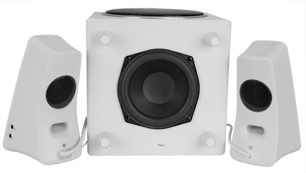 Logitech Speaker System Z523: звучание в белом