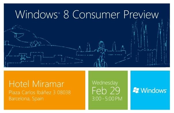 Microsoft представит Windows 8 Consumer Preview 29 февраля 2012 года