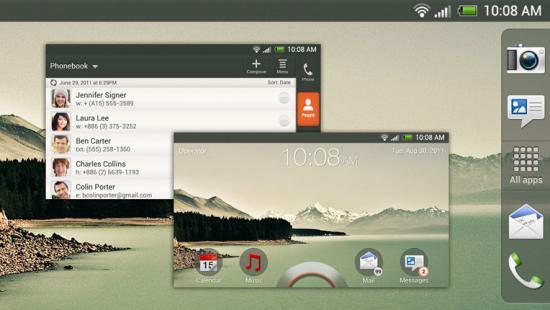 Скриншоты HTC Sense 4.0