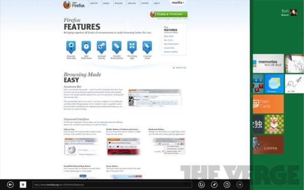 Mozilla планирует выпустить Firefox в стиле Metro для Windows 8