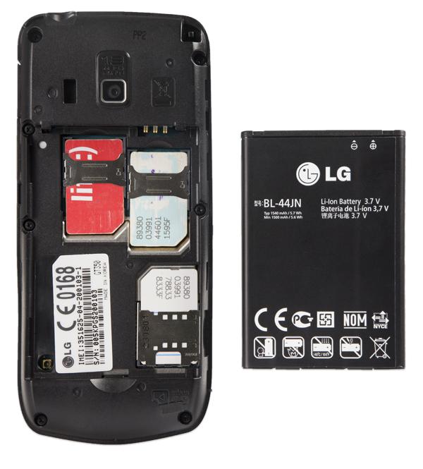 LG A290. Три карты!